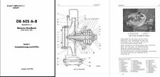 Daimler-Benz DB 605 Aero Engine Service Repair Manual 1940's WW2 RARE Me 109