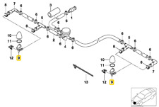 Genuine OEM Bmw Drivers Side Headlight Washer Nozzle # 61678252743