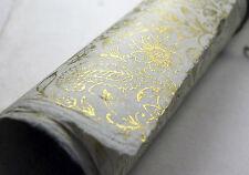 """Handmade Paper Sheets -  Lotka Fiber Golden Garden Print 20"""" x 30"""""""