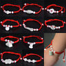 1PC Jade Beads Red String Rope Bracelet Good Luck Lucky Success Moral Amulet Mj