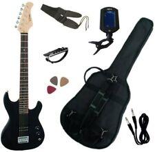 Pack Guitare Electrique 3/4 Noire Pour Enfant 6 Accessoires
