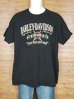 Harley Davidson Black Marysville WA 2009 Graphic T-Shirt Mens Size XL EUC