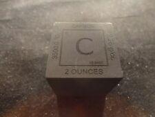 """CARBON CUBE 1.25"""" METAL  SQUARE  (C)  99.99 % PURE CARBON-  UNIQUE METAL GIFT"""