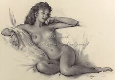 """Gil Elvgren Painting Poster or Canvas Print """" Her Seductive Look"""" Pinup Art #110"""