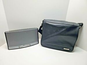 Bose Sound Dock Portable Digital Stereo Music System with Leather Carrying Bag