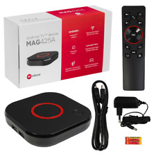 MAG 425A Android TV 8.0 4K HEVC 5G WIFI Bluetooth Sprachfernbedienung IPTVPlayer