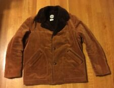 Vintage Corduroy Jacket Coat w/ Faux Fur Lining Brown Men's Large Venture Brand