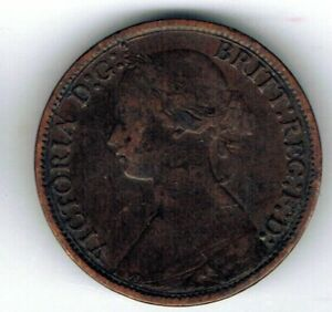 1866 Victoria farthing 1/4d coin