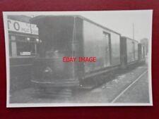 PHOTO  LONDON TRANSPORT WORKS CAR 08 STORES VAN PENHILL SCRAP YARD 11/9/51