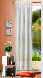 Stores Fertigvorhang Schlaufenbandschal Fiete Gardine transparent natur gewebt