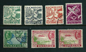 👀7 stamps - Curacao - Netherland Antilles 1931-1947 Air Post