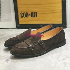 Loafers Driving Mens Monk Strap Comfy Shoes Slip on Lazy Boats Loafers Retro New