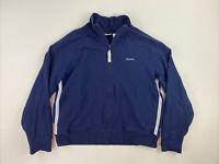 REEBOK - Women's Size Medium - Full Zip Track Jacket Navy Blue, Cotton Blend