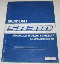 Werkstatthandbuch Suzuki Swift SA 310 Typ AA Anhang Baujahr 1983 - 1989!