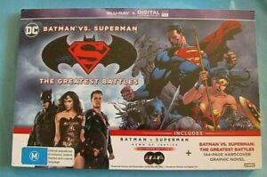BATMAN V SUPERMAN Dawn of Justice Ultimate Edition + Novel BLU-RAY NEW SEALED