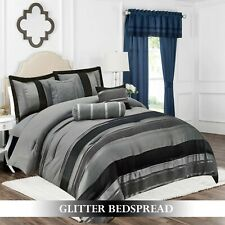 Luxury Decorative Quilts Bedspread Double King Size 7 Pcs Comforter Bed Throw UK
