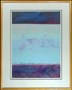 """Mark Dickson """"#MD-1-91"""" Hand Signed Abstract Original Pastel Drawing Make Offer"""