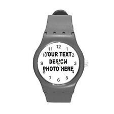 Personalized Custom Logo, Design, Photo, Text Round Plastic Sport Watch M Medium