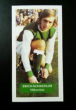 HIBERNIAN - ERICH SCHAEDLER - Score UK football trade card