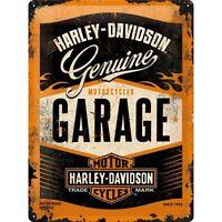 Blechschild HARLEY DAVIDSON Garage 30x40 cm gewölbt geprägt Biker Schild NEU USA