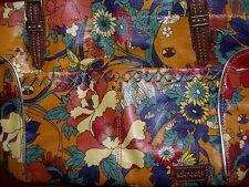 The Sak Roots Womens Orange Floral Multicolor Shoulder Satchel, Purse Handbag