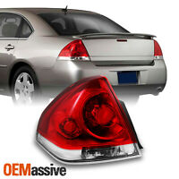 Fit 06-13 Chevy Impala Replacement Red Clear Driver Left Tail Lights Replacement