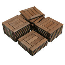 12x12'' Deck Patio Tiles Interlocking Wood Flooring Pavers Tiles Outdoor 27pcs