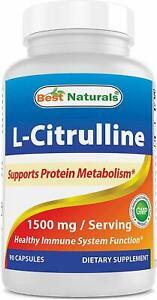 Best Naturals L-Citrulline Capsules - 1500mg/Serving 90 Capsules