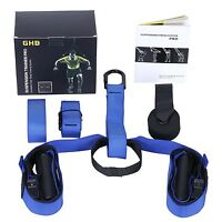 Suspension Fitness Straps Trainer System Home Gym Workout Training Blue TRX type