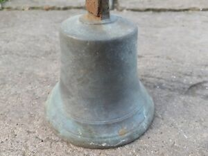 Large Vintage Iron Shop Door Bell. Brass Bronze. Barn find