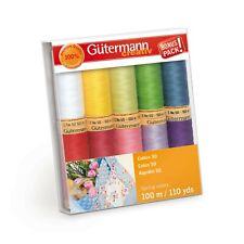 Gutermann Cotton 50 Thread assortment Spring 10 spools each 110YD 734016-1
