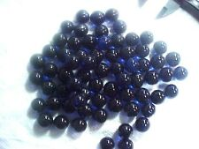 "20 LB CASE  CHAMPION 9/16"" (+or -) COBALT BLUE  TRANSPARENT MARBLES $40.99 PPD"