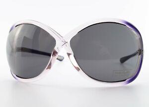TOM FORD Sonnenbrille Whitney TF9 Q51 64[]14 110 Big Sunglasses Purple +D&G Case