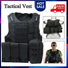 Military Tactical Vest Molle Plate Carrier with Holster Holder Assault Combat