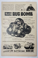 1971 Revell Dave DEAL'S WHEELS ad page ~ BUG BOMB,Stink Ray,Glitter Bug,ZZZZZ-38