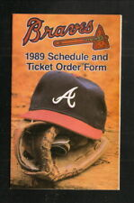 Atlanta Braves--1989 Pocket Schedule--Domino's Pizza