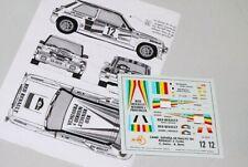 DECAL CALCA 1/43 Renaut 5 Turbo #12 C.Sainz Cto.España Rallys 1984 JAL-43