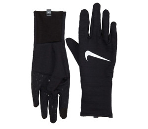 Nike Gloves Mens Large Authentic Dri Fit Dry Sphere 3.0 Reflective Running Black