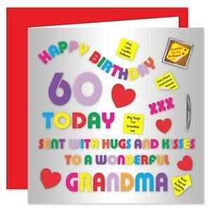 Grandma Happy Birthday Card - Age Range 50 - 80 Years - Alphabet Design