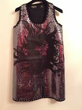 BNWTT 100% Auth Replay, Stunning Sequinned Straight Dress. S RRP £180