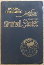 NATIONAL GEOGRAPHIC ~ ATLAS OF THE 50 UNITED STATES ~ GIANT ~ VINTAGE 1960