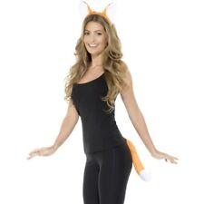 ADULTO animale Volpe Costume Set Orecchie su cerchietto & Coda KIT Arancione