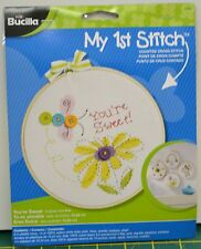 "Bucilla My 1st Stitch Cross Stitch Kit w/Hoop 6"" (15.25cm) ""You're Sweet"""