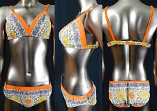 New listing Vintage Cole of California Cotton Floral Paisley Print Bikini Two Piece Swimsuit