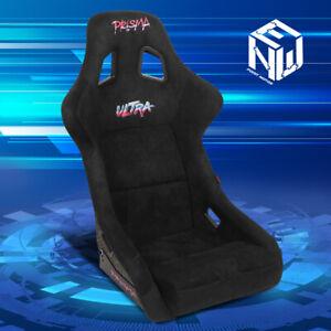 NRG Innovations FRP-302BK-ULTRA Alcantara Bucket Racing Seat Large Prisma Black