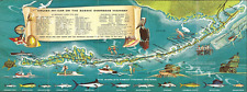 Florida Keys Treasure Map Metal Signs, Beach Decor, Travel Poster
