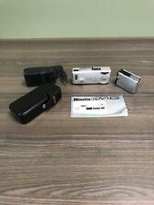 Minolta 16-Mg Spy Camera With Leather Case Collectible Silver Ultra-Compact