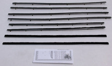 1960-63 Ford Falcon Tudor Sedan Repops Window Felt Weatherstrip Kit 8 pcs