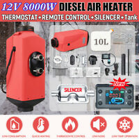 16PCS Set 12V 8KW Diesel Air Heater Remote Control Low Noise For Truck Car Boat