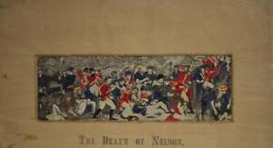 DEATH OF NELSON UNITED KINGDOM 20th CENTURY ORIGINAL PLATE EMBROIDERED IN SILK